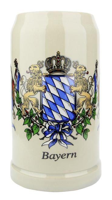 Kannenbaecker Bavarian Ceramic Beer Mug 1 Liter