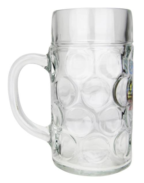 Frankfurt Dimpled Oktoberfest Glass Beer Mug 1 Liter