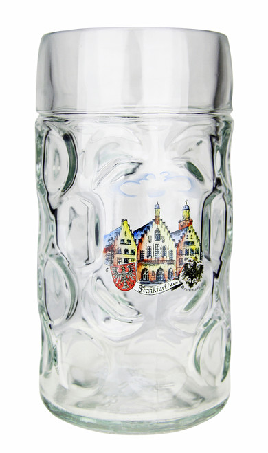 Personalized German Beer Stein with Picture of Frankfurt