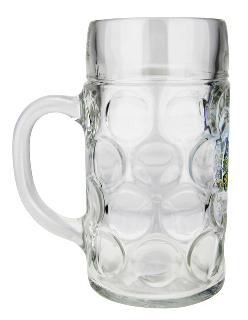 Side View of 1 Liter German Heidelberg German Beer Mug
