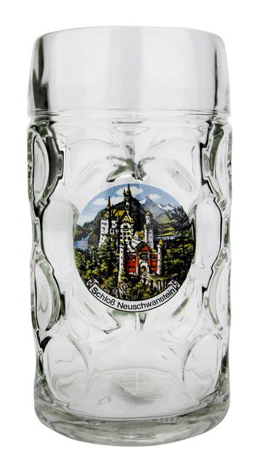 Authentic 1 Liter German Mass Krug with Neuschwanstein Motif