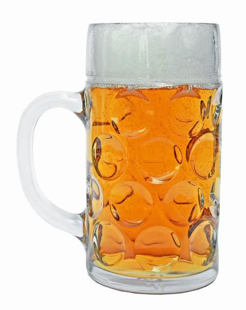 Neuschwanstein Dimpled Oktoberfest Glass Beer Mug 1 Liter