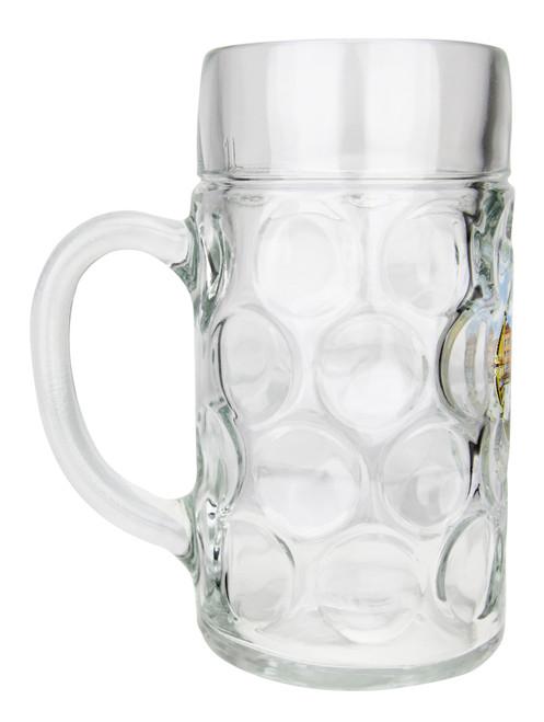 Nurnberg Dimpled Oktoberfest Glass Beer Mug 1 Liter