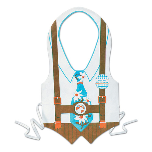 Oktoberfest Edelweiss Plastic Party Vest Male