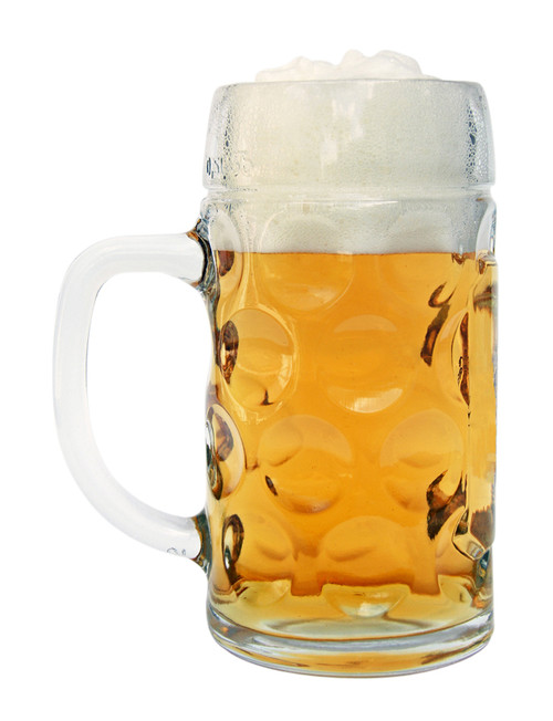 Personalized Dimpled Glass Beer Mug for Sale
