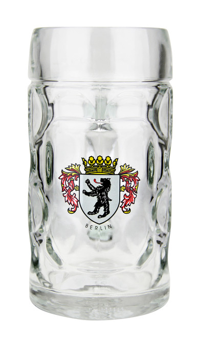 Traditional German Berlin Oktoberfest Glass Beer Mug 0.5 Liter