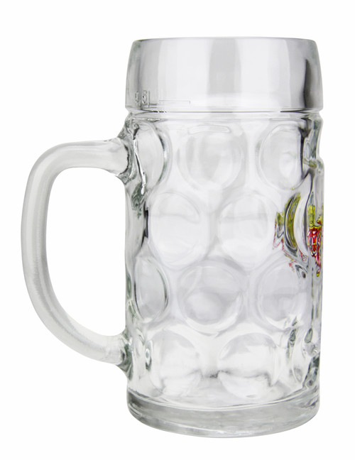 Authentic Glass German Personalized Beer Mug 0.5 Liter