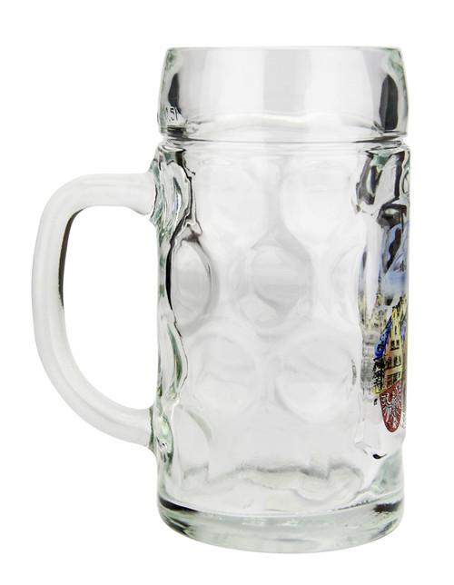 Side .5 Liter Glass Beer Mug