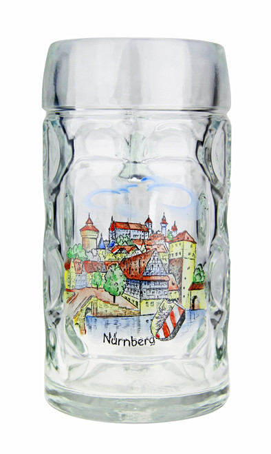 Authentic .5 Liter Oktoberfest Beer Mug with hand painted Nurnberg motif