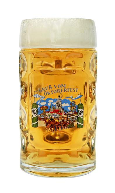 Munich Oktoberfest Glass Beer Mug