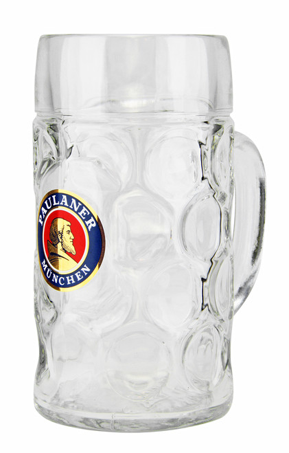 Glass Dimpled Oktoberfest Beer Mug with Handle