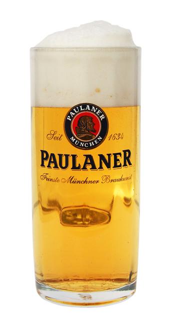 Authentic Faceted 0.5 Liter Paulaner Beer Mug