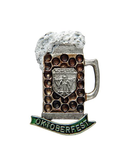 Oktoberfest Munich Frothing Dimpled Mug German Hat Pin