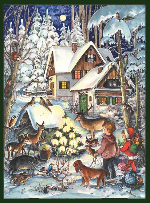Forest Animals German Christmas Advent Calendar