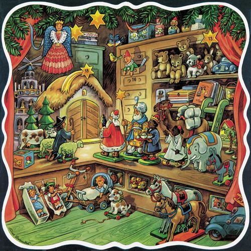 Santa's Workshop German Advent Calendar