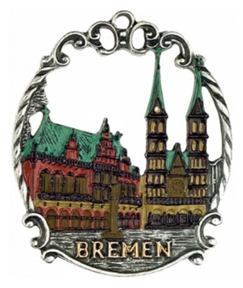 Bremen Traditional German Pewter Christmas Tree Ornament