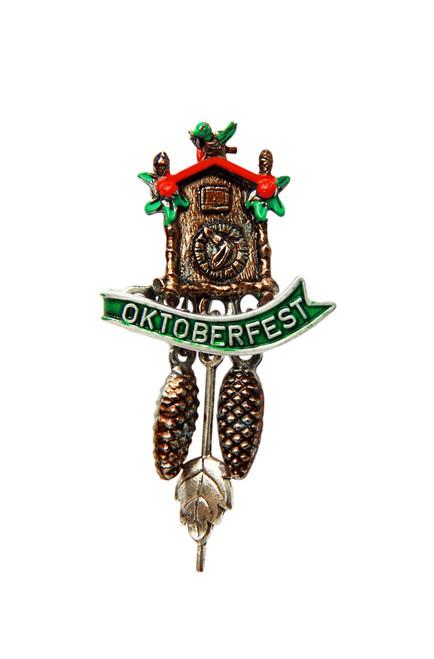 Oktoberfest Cuckoo Clock German Hat Pin
