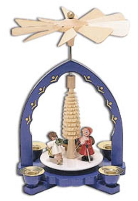 Santa and Angel German Wooden Pyramid