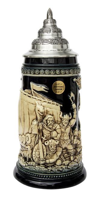 Leif Erikssen Viking Beer Stein Cobalt