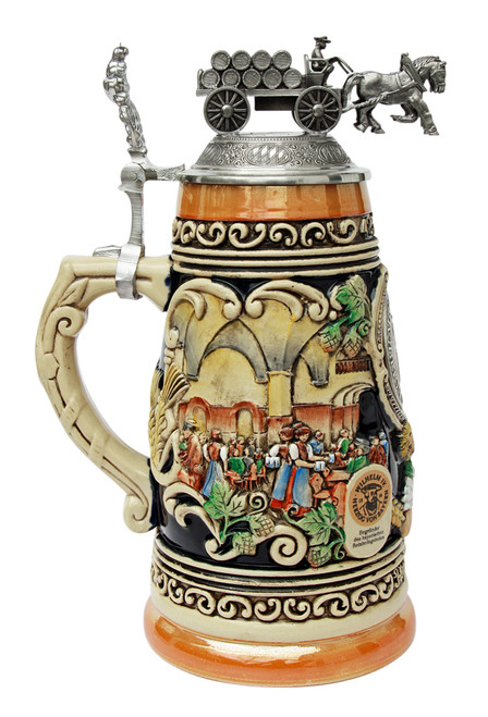 Collectible authentic german beer stein with lid