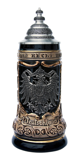 German Eagle Crests Beer Stein