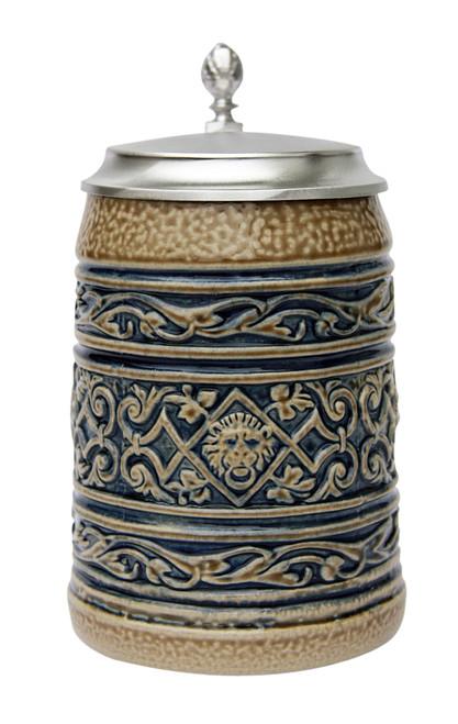 Lion Head Traditional Salt Glaze Beer Stein