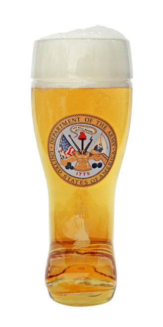Front of 0.5 Liter German Beer Boot with US Army Seal