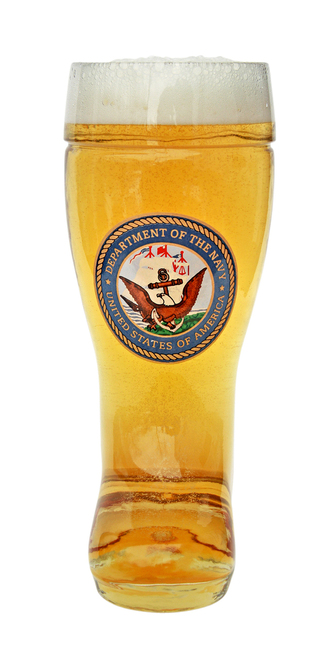 Custom Engraved 0.5 Liter Beer Boot with US Navy Seal