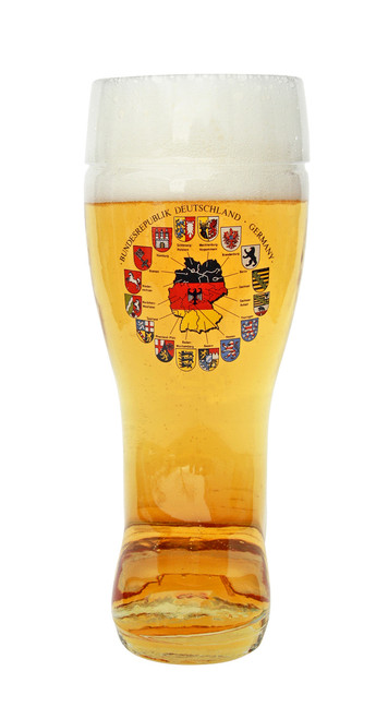 Front View of Authentic German Glass Beer Boot