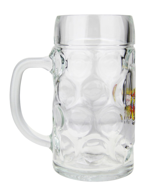 Personalized 0.5 Liter German Oktoberfest Mug with Saarland Crest