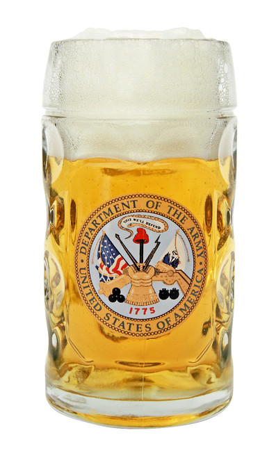 Traditional 0.5 Liter Oktoberfest Mug with US Army Seal