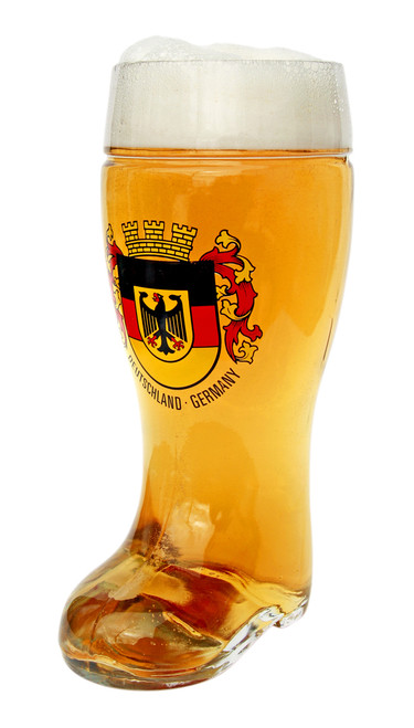 Authentic German Beer Boot Glass 1 Liter