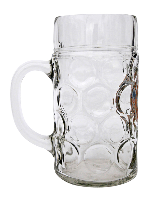 Side View of 1 Liter German Oktoberfest Mug with US Army Seal