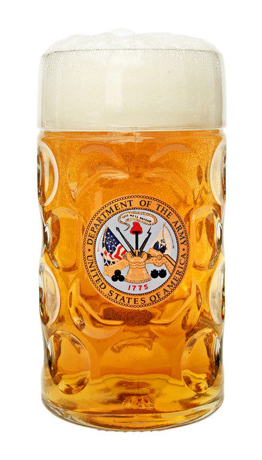 Authentic 1 Liter German Beer Mug with US Army Seal