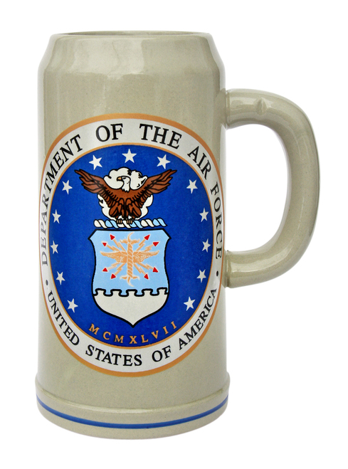 US Air Force Stoneware Beer Mug 1 Liter