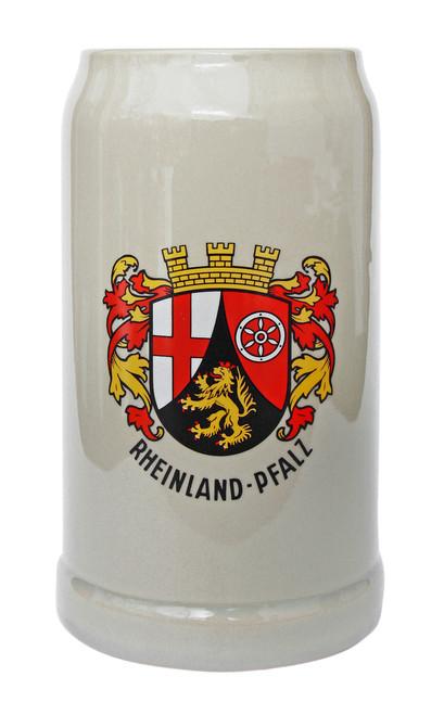 Rheinland Pfalz Stoneware Beer Mug 1 Liter