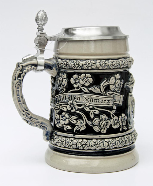 Joyful Heart Traditional Beer Stein Cobalt