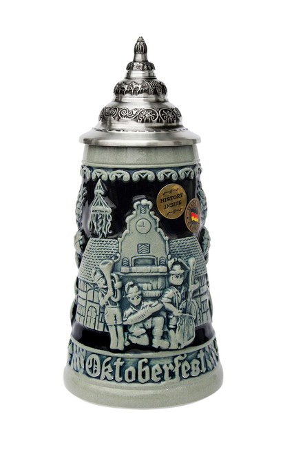 Ceramic Official Munich Oktoberfest Beer Mug with Lid