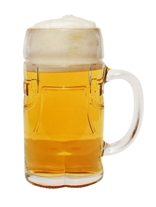 Glass Lederhosen Beer Mug, 0.5L Made in Germany