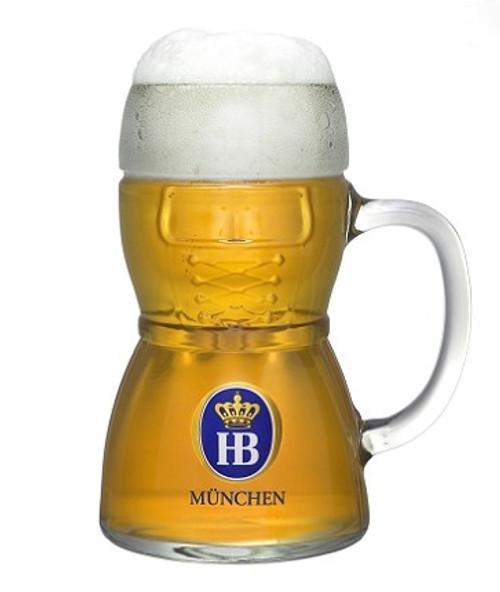 Dirndl HB Hofbrauhaus Glass Beer Mug 0.5 Liter