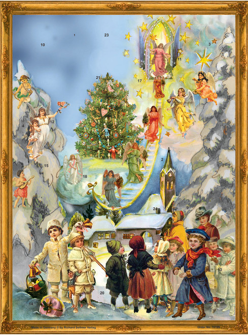 Victorian Angel Stairway German Christmas Advent Calendar
