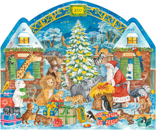 Large Christmas at the Zoo German Advent Calendar