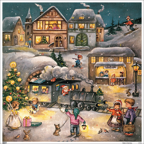 Santa's Train German Advent Calendar