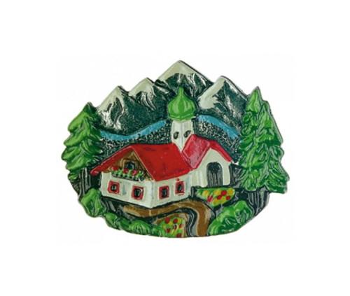 Alpine Village Pewter German Hat Pin