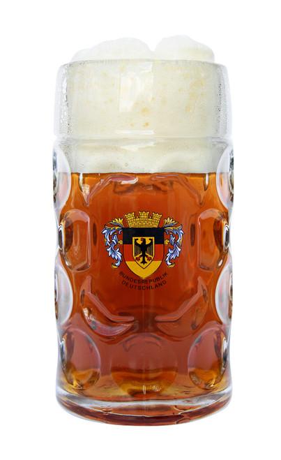 Deutschland Dimpled Oktoberfest Beer Mug with Eagle Crest