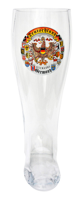 Deutschland Glass Beer Boot 2 Liter