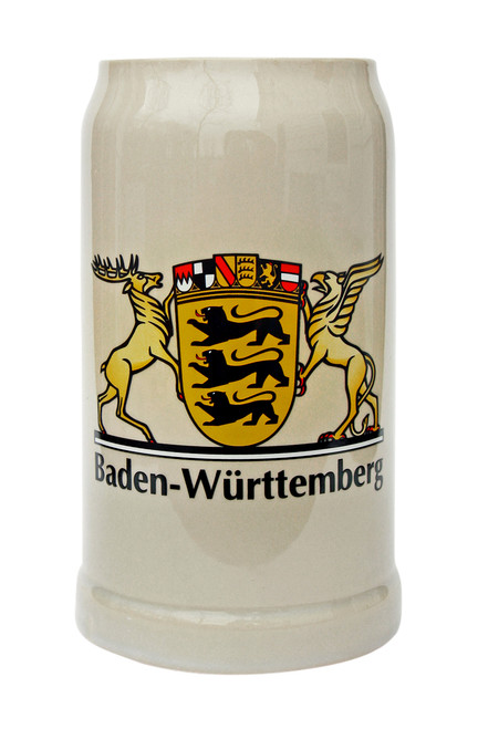 Baden Wuerttemberg Stoneware Beer Mug 1 Liter