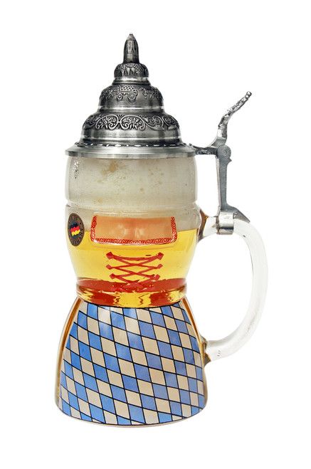 Authentic Beer Stein with Pewter Lid