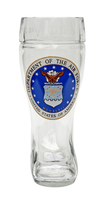 Personalized 0.5 Liter Beer Boot with Traditional USAF Seal
