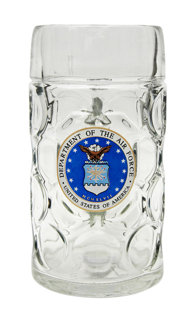 Custom Engraved Beer Mug with USAF Seal